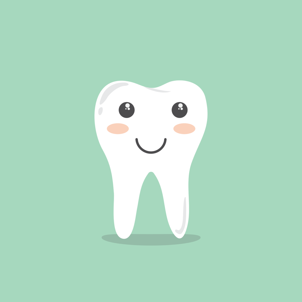 A cartoon image of a tooth