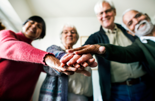 Senior Friends Socializing - Assisted Living Helps Overcome Loneliness